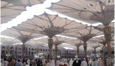 رحلة عمرة - ساحة المسجد النبوى - اجازات مصر